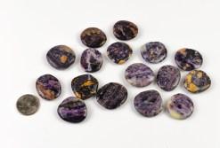 Purple Flower Jasper Mini Medallion