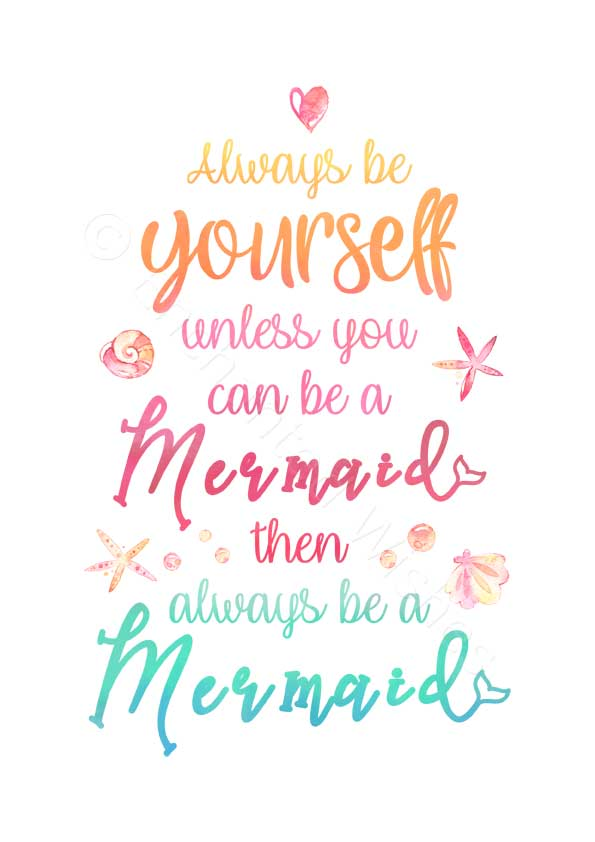 Mermaid Quote Prints Set Of 3 Art Prints Nursery Wall Art Quote Prints Enchanted Wishes