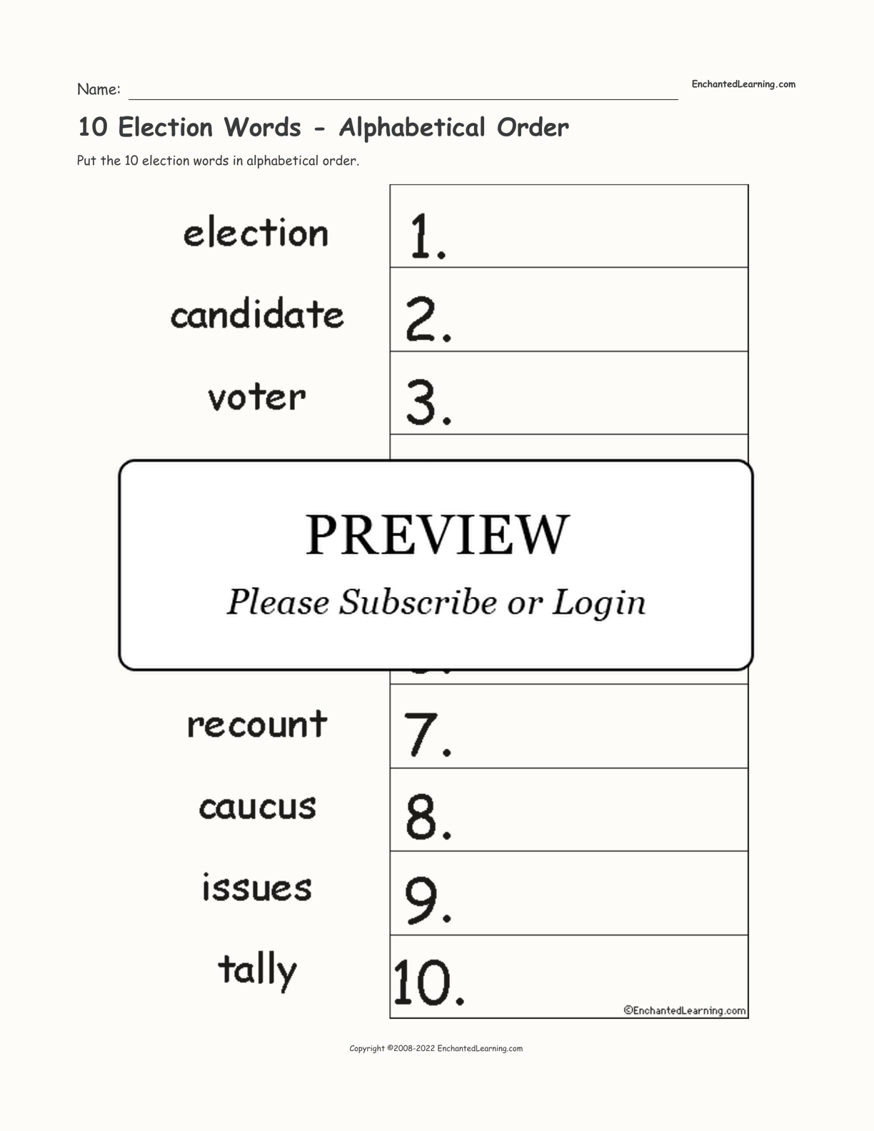 10 Election Words