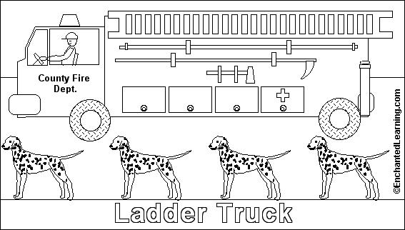 fire truck online coloring page enchantedlearning com