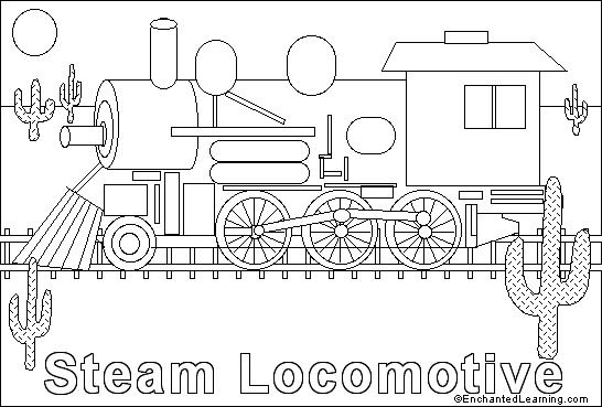train engine online coloring page enchantedlearning com