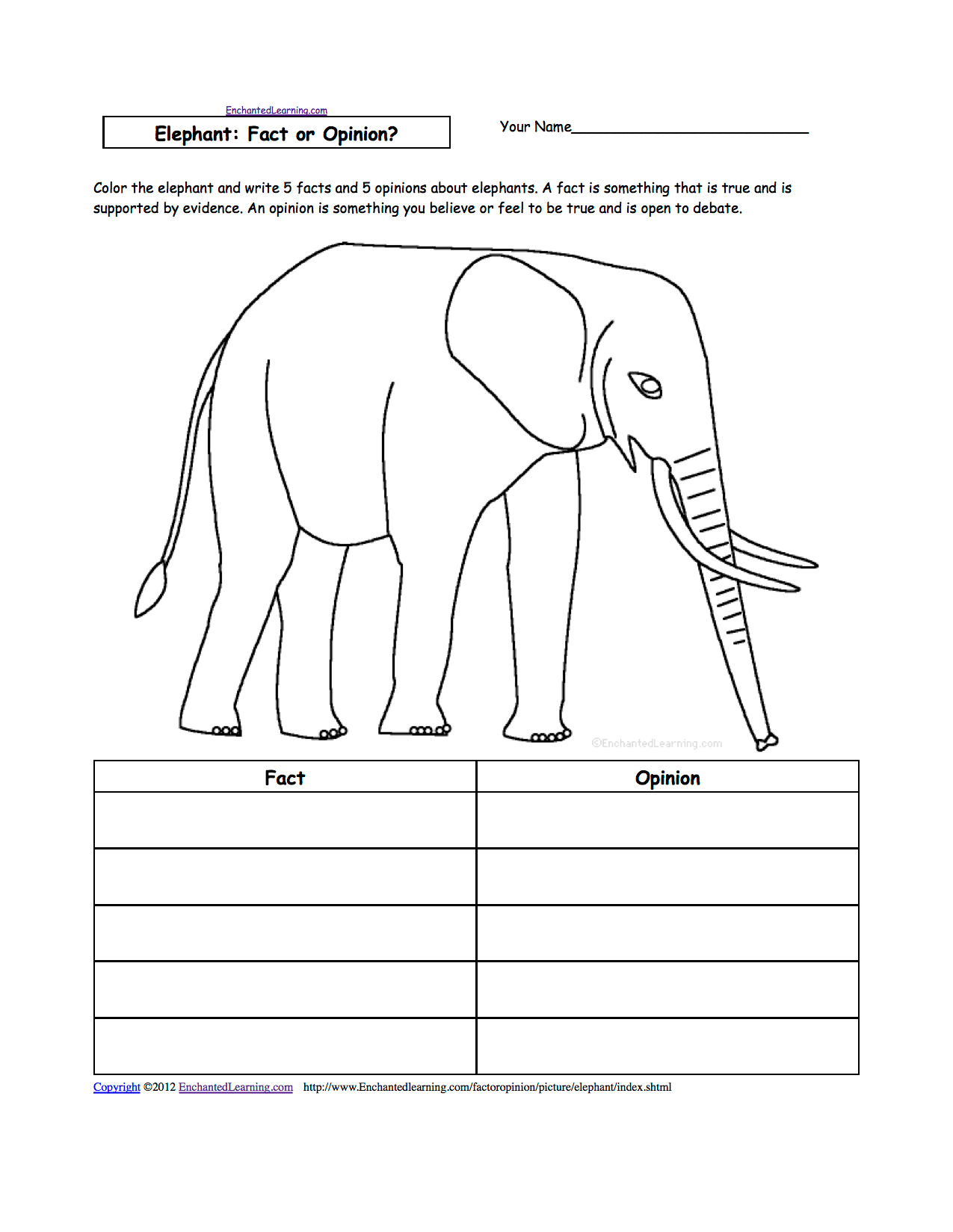 Elephants At Enchantedlearning