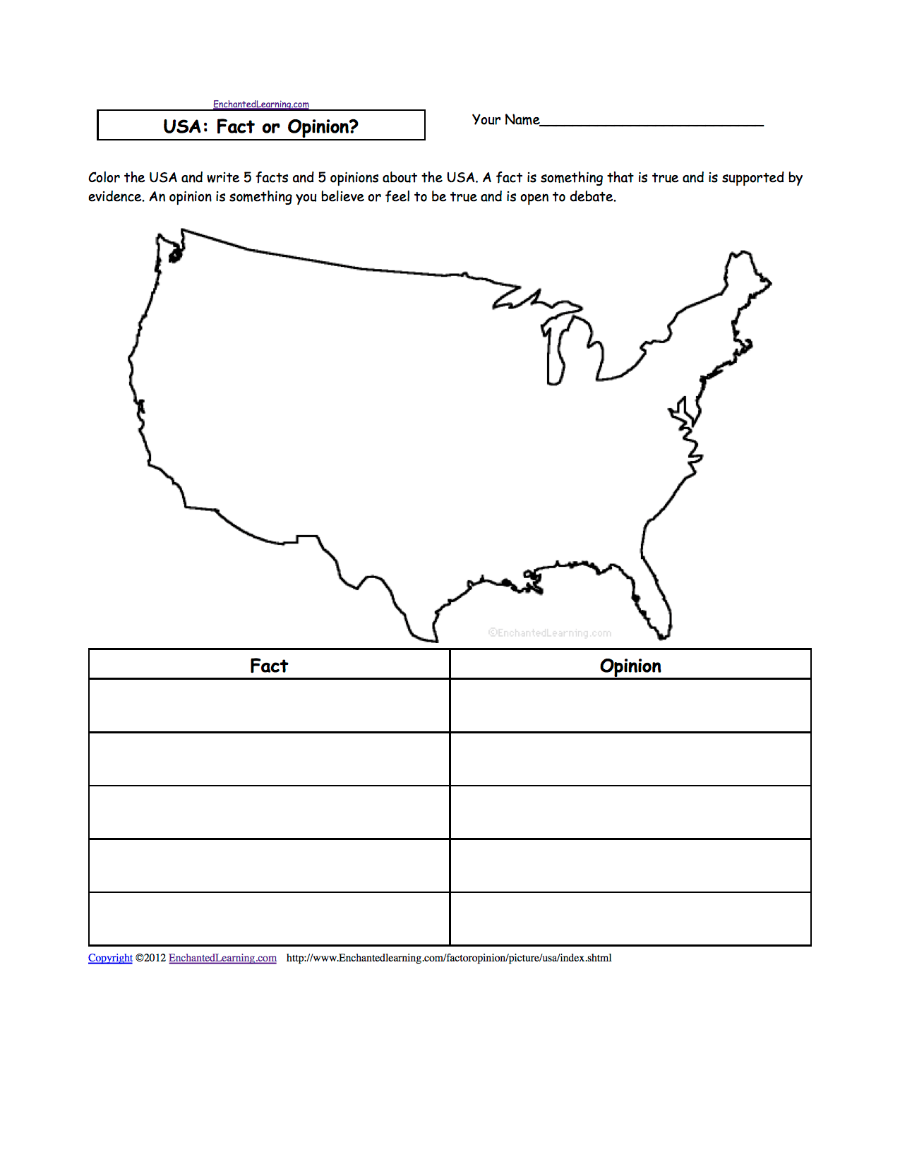 5 Regions Usa Worksheet