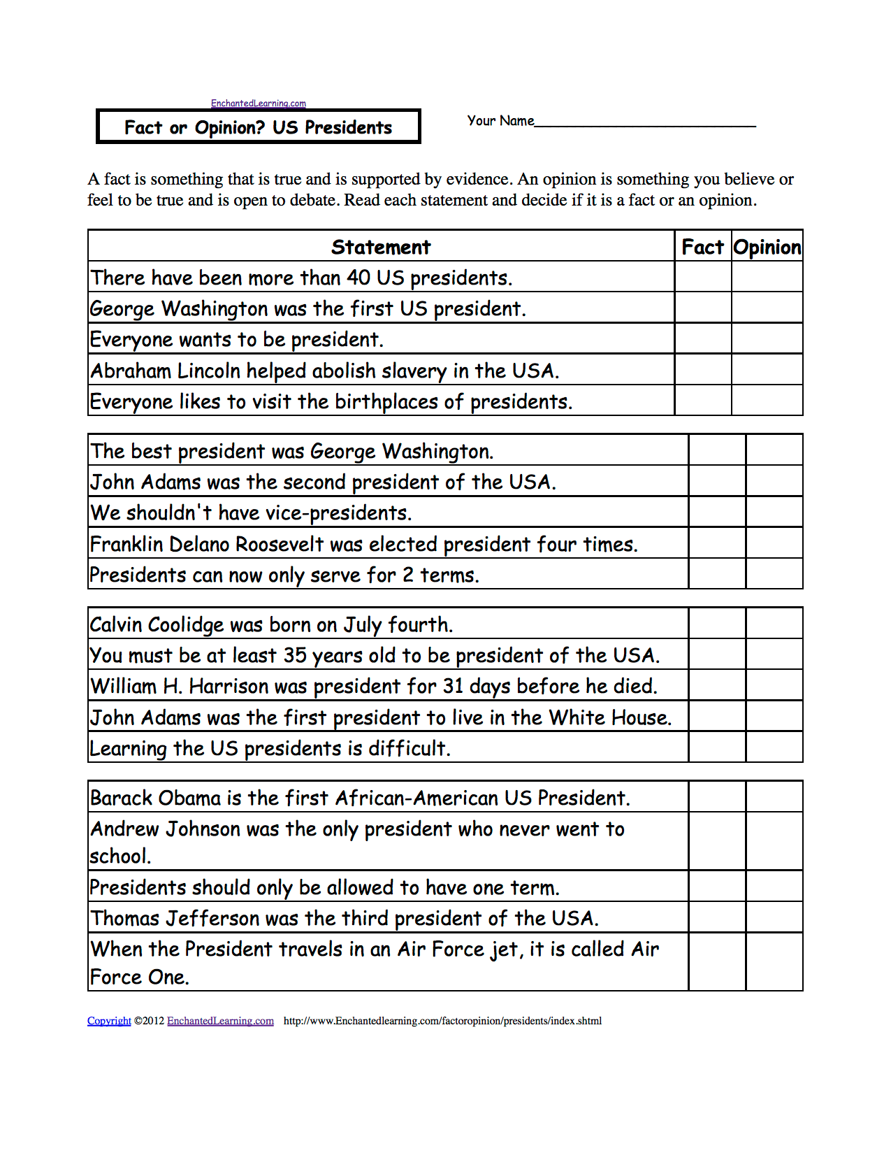 Activities Worksheets And Crafts For Presidents Day