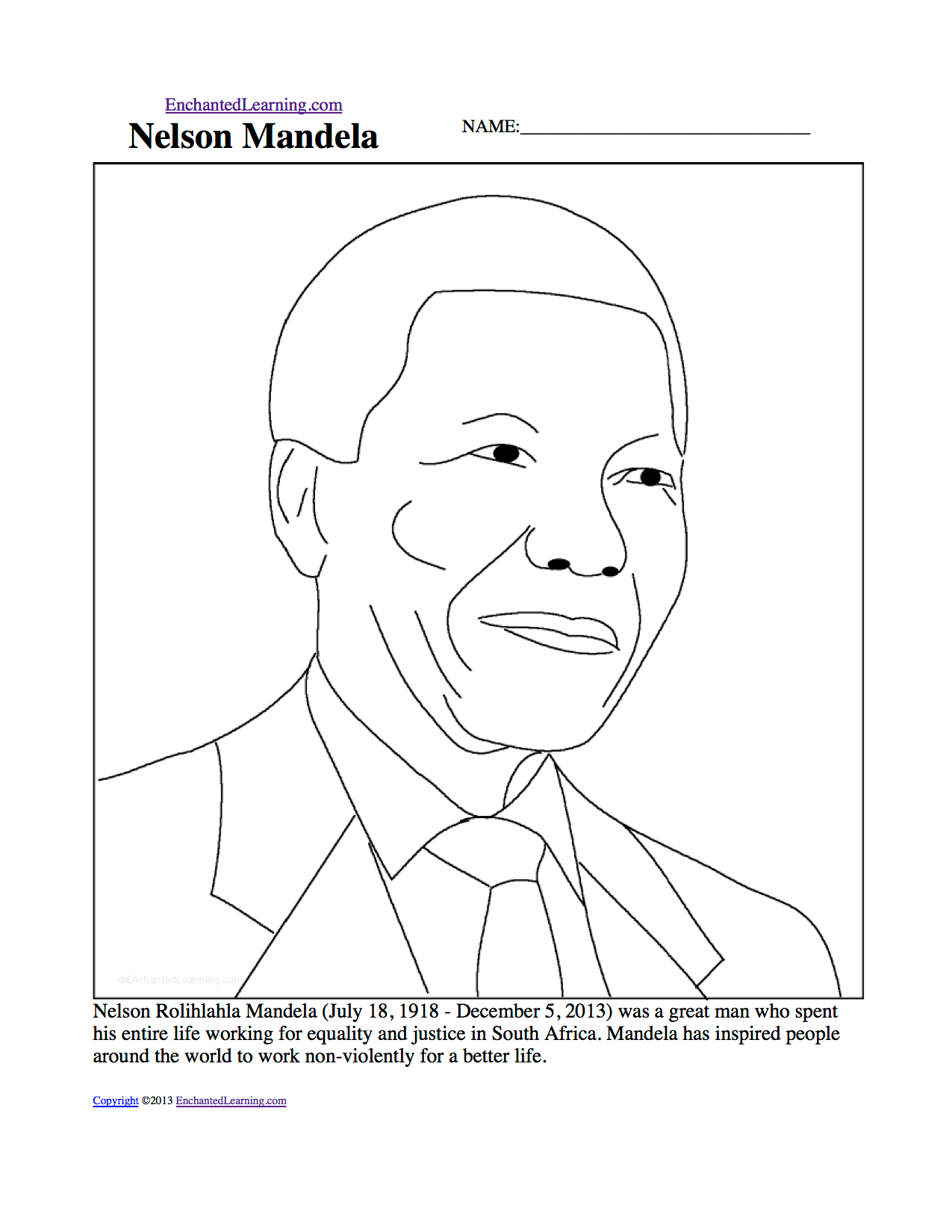 Ridiculous Nelson Mandela Worksheets