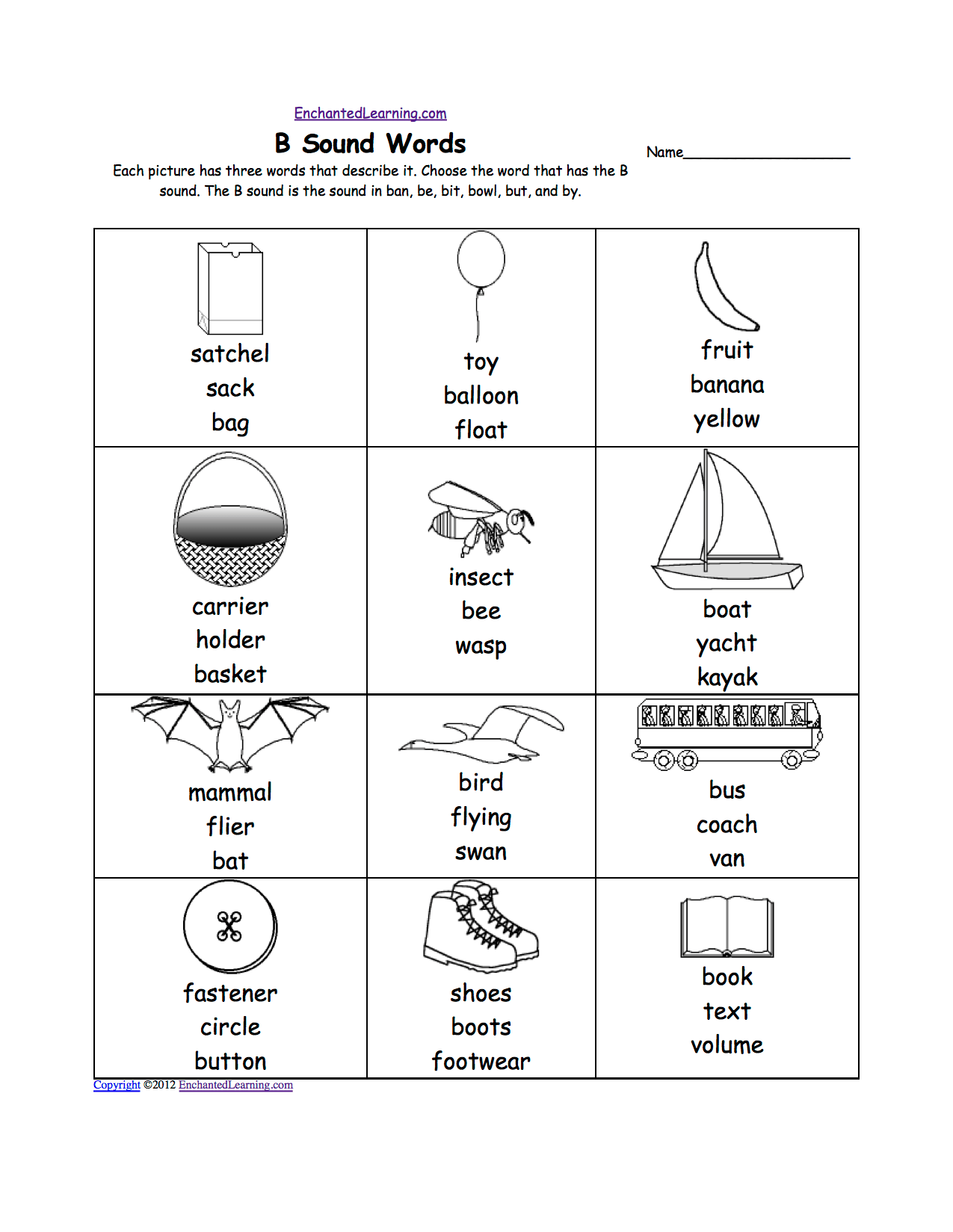Or Words Phonics Worksheet