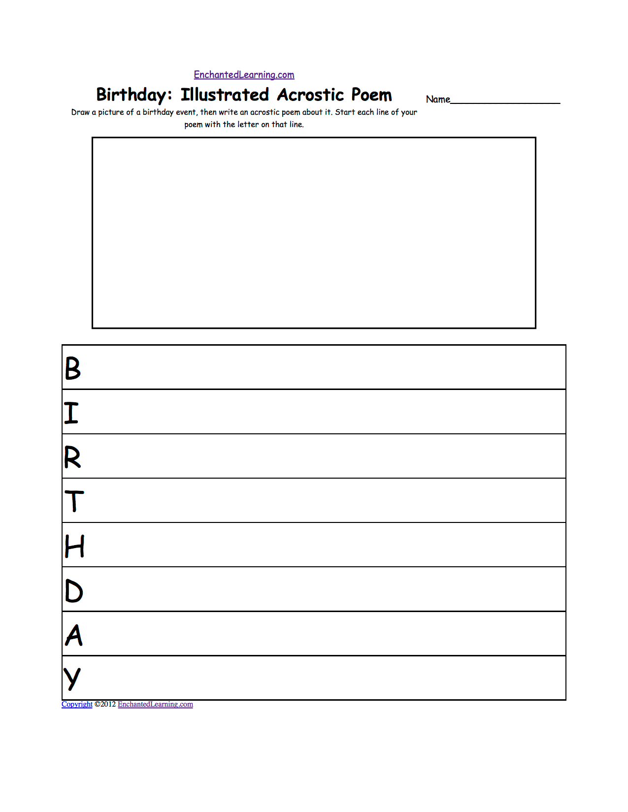Licoln Birthday Worksheet