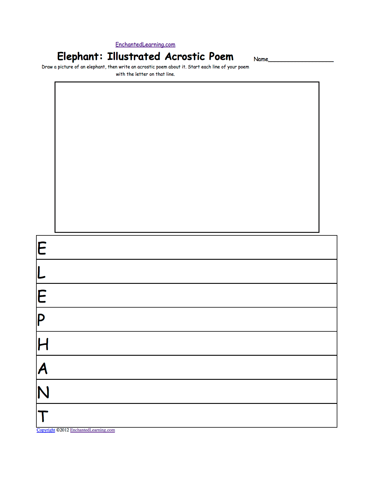 Acrostic Poems Plus Generate Your Own Poetry Worksheets