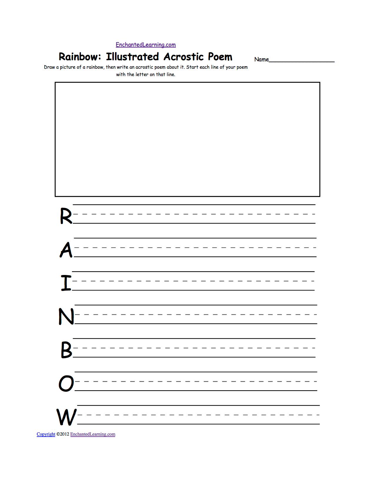 Rainbow Theme Page At Enchantedlearning