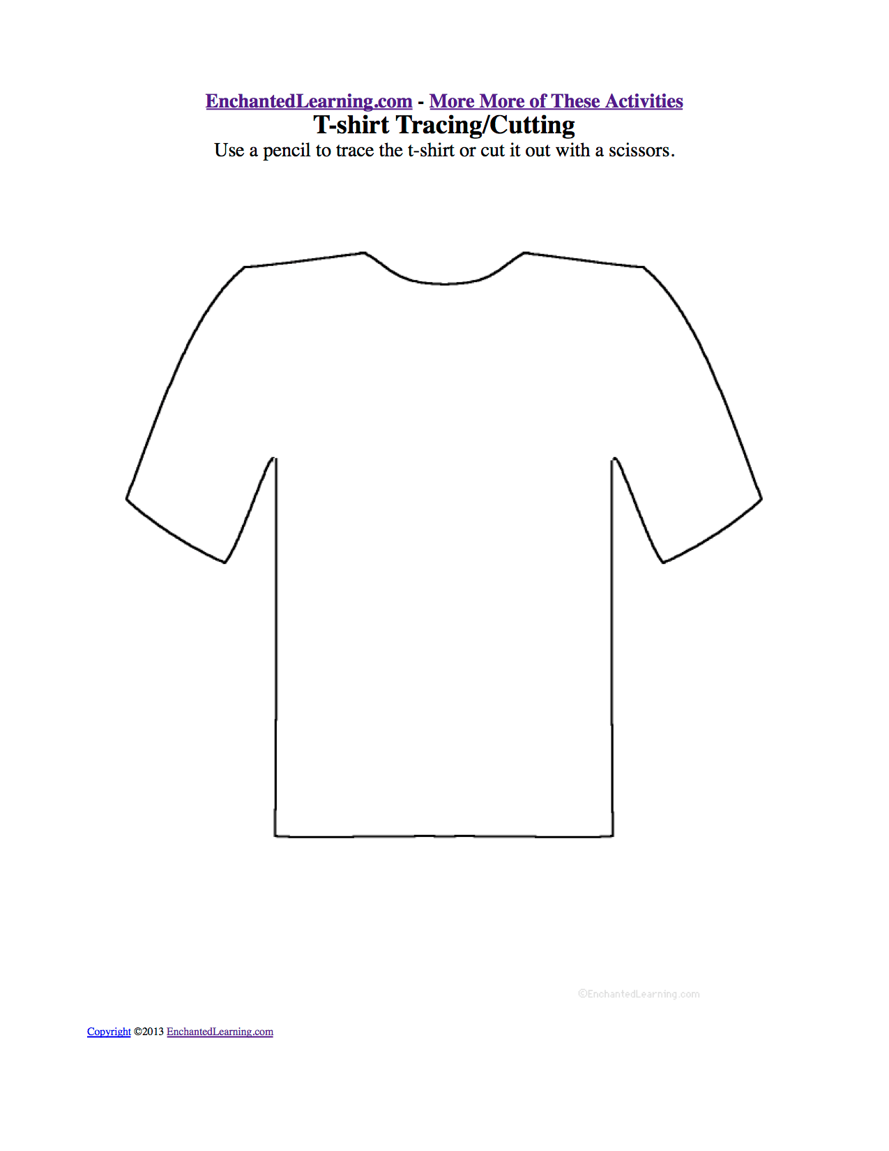 Clothes Drawing And Coloring Worksheets