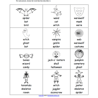 Halloween EAL Worksheet multiple choice