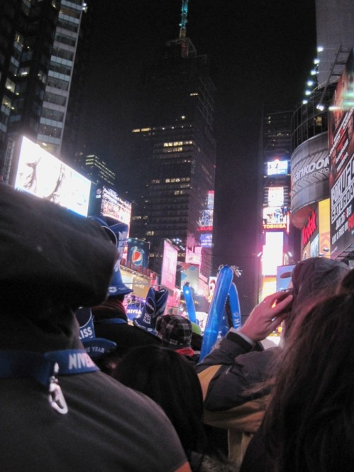 My view of the Times Square Ball Drop