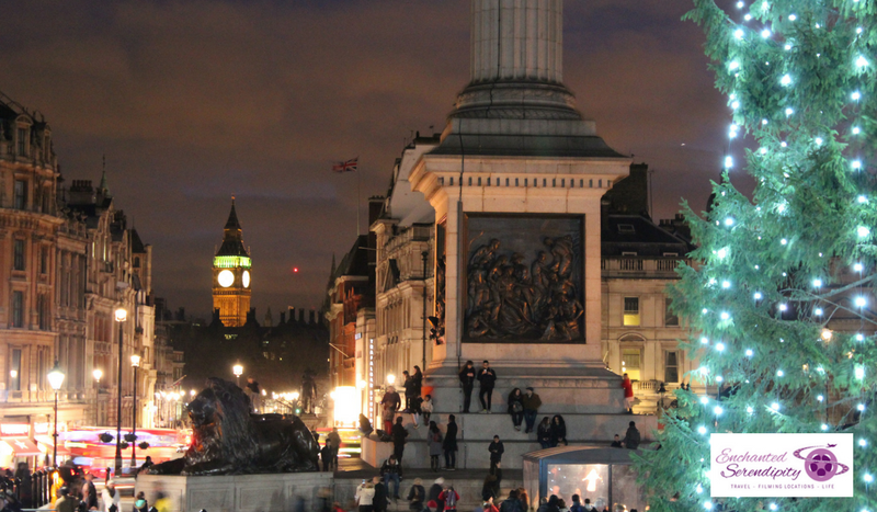 Christmas In London Trafalgar Square