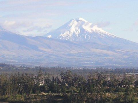 Gorgeous snow-capped volcano in Ecuador