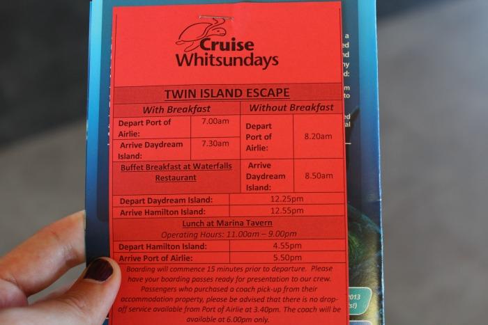 Cruise Whitsundays Twin Island