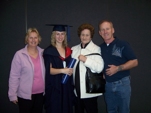 Graduation with the parents and My Nanna