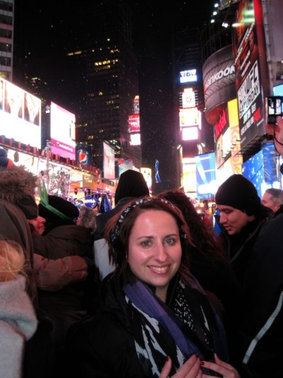 Me in Times Square For The Ball Drop!