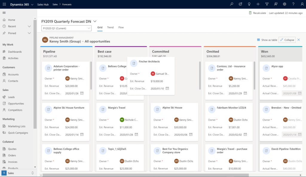 enCloud9 | Microsoft Dynamics 365 CRM Consultants Eliminate the Guesswork with Sales Forecasting: Part 2 Dynamics 365 Fundamentals New Features in Dynamics 365 Sales Hub