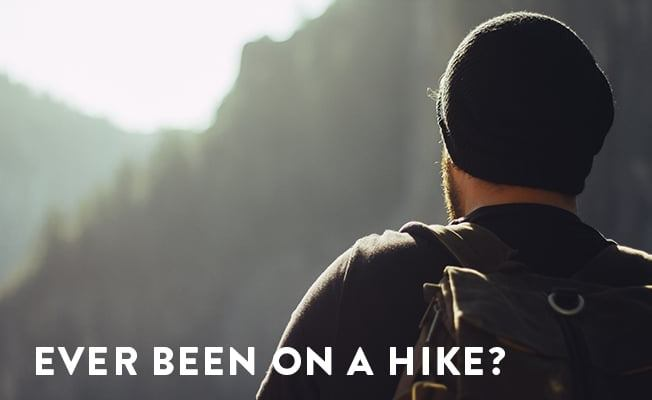 an image of a hiker conducting their own