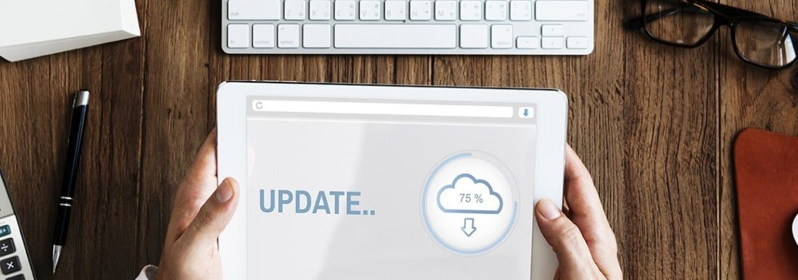 An image depicting April 2019 news and updates from encompass solutions.
