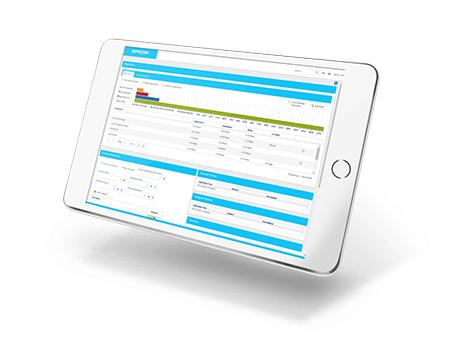 an image of Epicor HCM on a tablet as part of the complete epicor erp overview