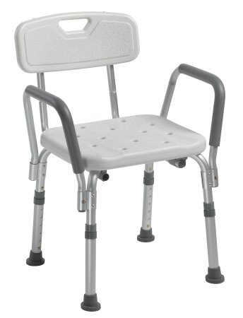 Standard Adjustable Height Bath Bench with Backrest and Arms