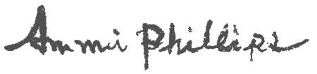 Ammi Phillips Artist Signature