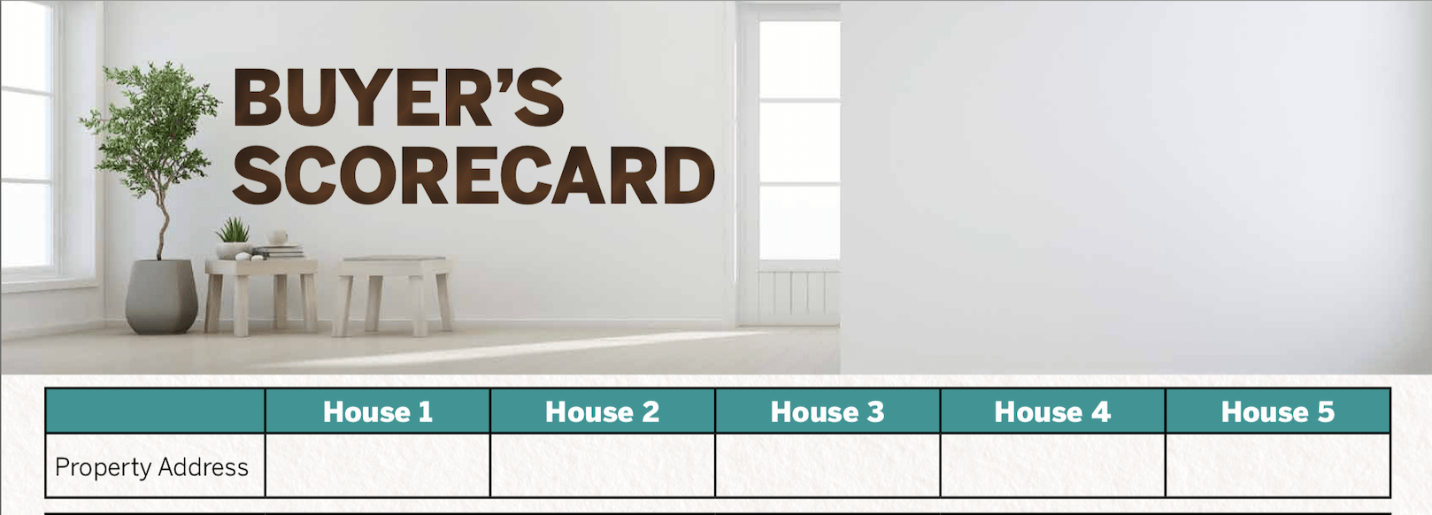 Buyer's Score Card