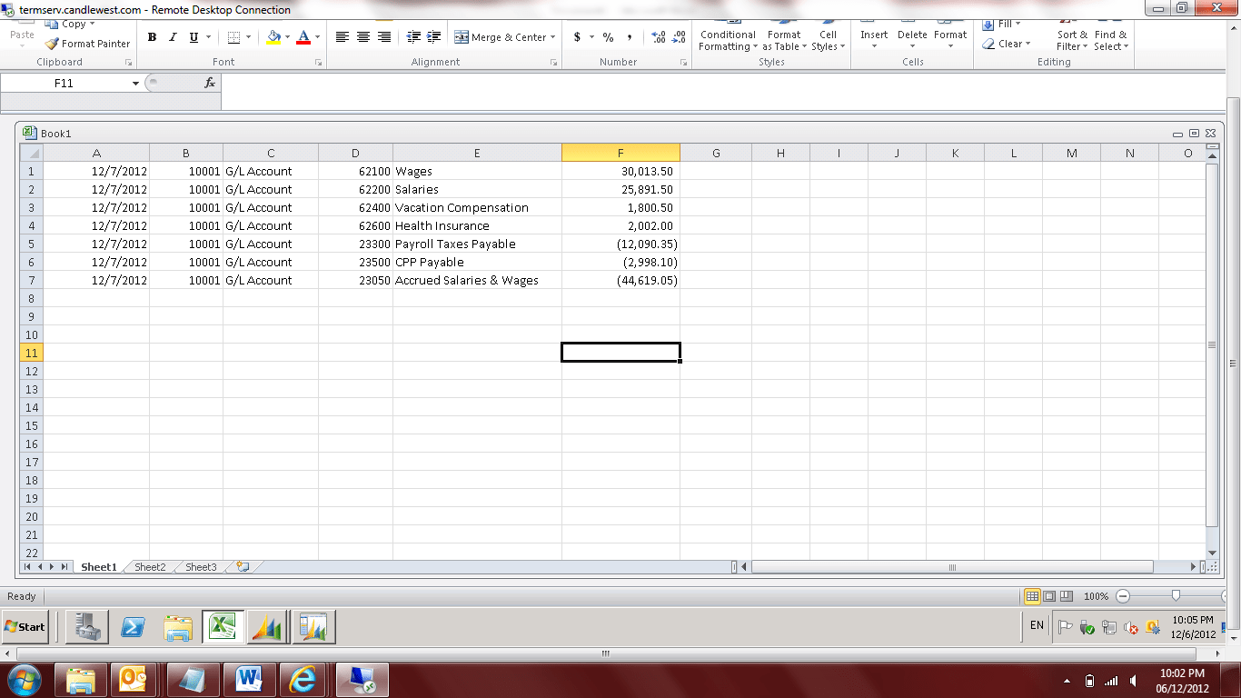 Copying And Pasting From Excel Into Dynamics Nav