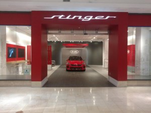 Encore Construction recently completed a KIA Stinger Salon in the Montgomery Mall