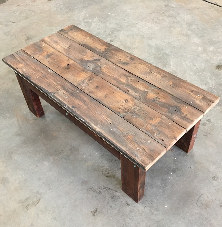 reclaimed timber coffee table encore
