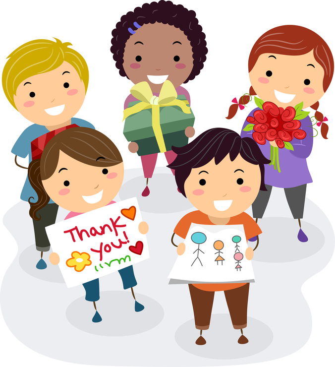 Picture of kids saying Thank You