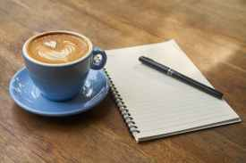 Pen and Paper with Coffee
