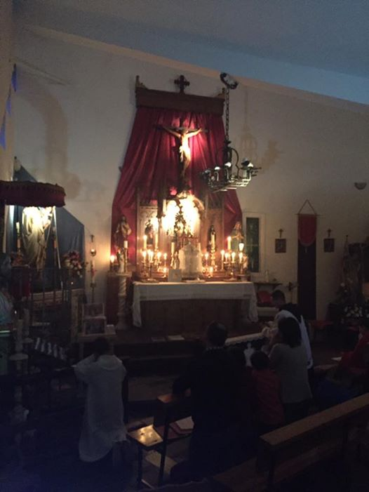 Capilla de la casa de retiros., se caracteriza por el espíritu de recogimiento, piedad y silencio