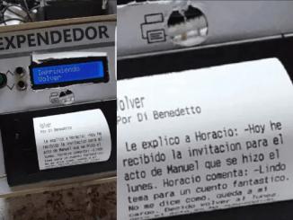 Máquina expendedora de literatura, un invento argentino.