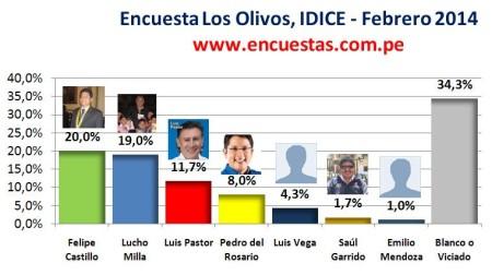 Encuesta Alcaldía de Los Olivos, IDICE – Febrero 2014