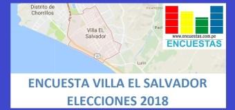 Elecciones 2018 │Encuesta Alcaldía de Villa El Salvador – Agosto 2017