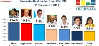 Encuesta Alcaldía de Lima – 31 Diciembre de 2017