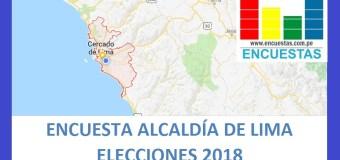 Resumen: Encuesta Alcaldía de Lima – 31.12.2017 – 31.01.2018