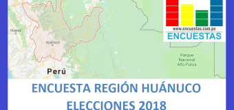 Encuesta Gobierno Regional de Huánuco – Julio 2018