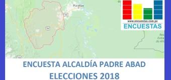 Encuesta Alcaldía de Padre Abad, Ucayali – Marzo 2018