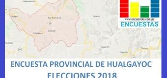 Encuesta Alcaldía Provincial de Hualgayoc – Setiembre 2018
