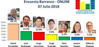 Encuesta Barranco, Online – 07 Julio 2018