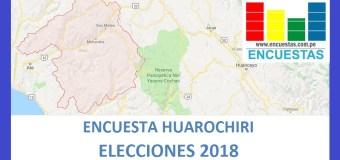 Encuesta Alcaldía de Huarochiri – Setiembre 2018