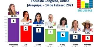 Encuesta Congreso, Online (Arequipa) – 14 Febrero 2021