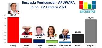 Encuesta Presidencial, Apuwara – (Puno) 02 Febrero 2021