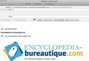 Rédiger un email test