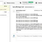 volet d'apercu vertical gmail