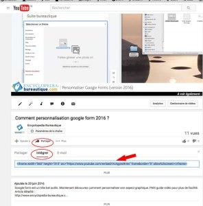 vidéo sous paper à partir de Youtube