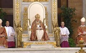 Pope on Throne